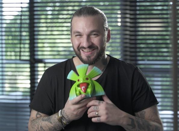 Angello with his MTV Chiuku Award