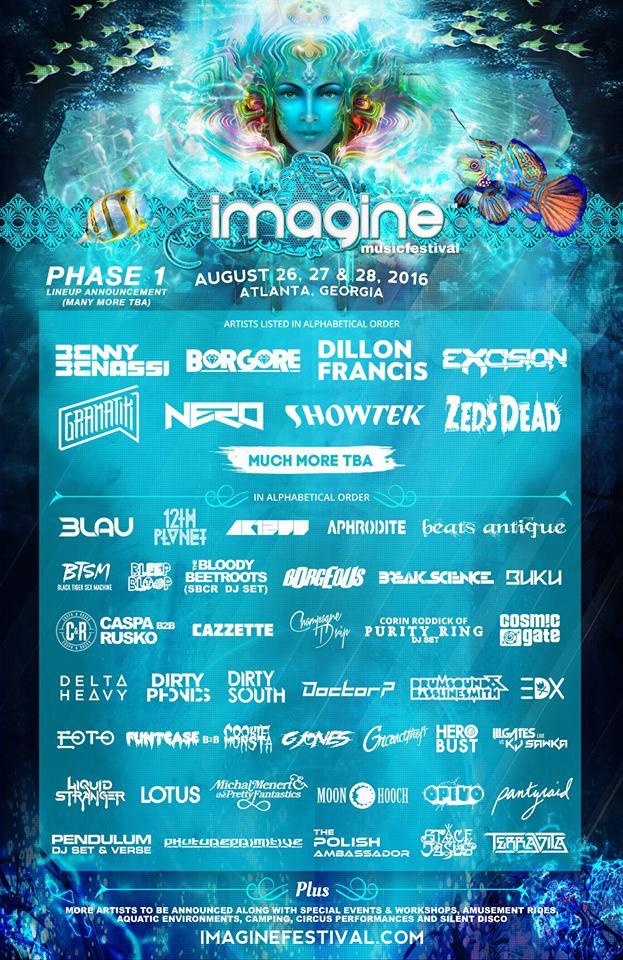 Imagine Music Festival`s Line Up Phase 1